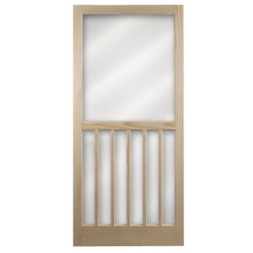 Snavely Kimberly Bay 36 In. W. x 80 In. H. x 1 In. Thick Natural Pine Wood 5-Bar Screen Door