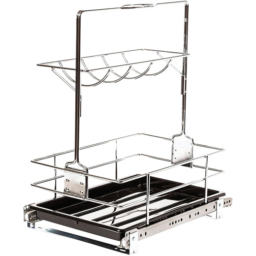 Knape & Vogt Real Solutions Slide Out Removable Cleaning Basket Organizer