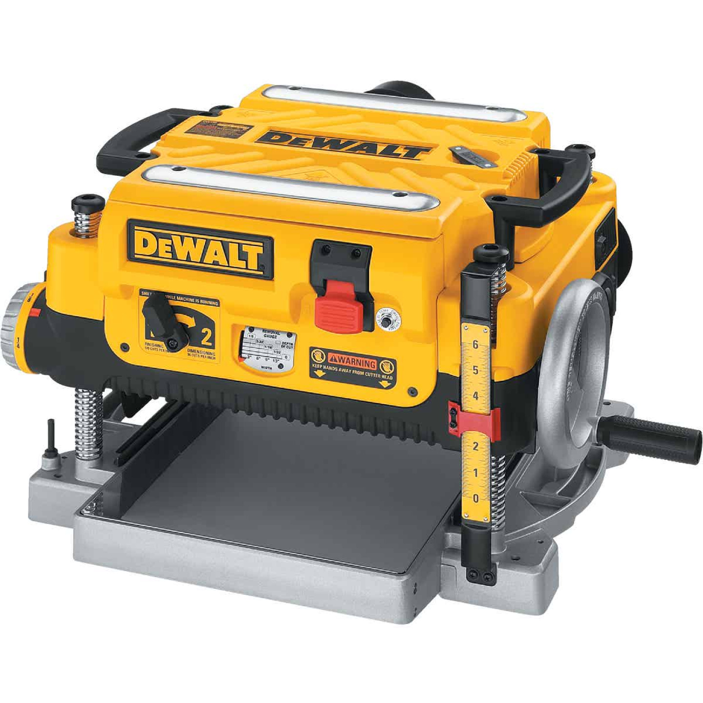 DeWalt 13 In. Three Knife Two-Speed Portable Planer Image 9