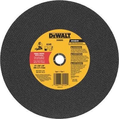 DeWalt High Performance 10 In. x 7/64 In. x 5/8 In. Type 1 Metal Cut-Off Wheel