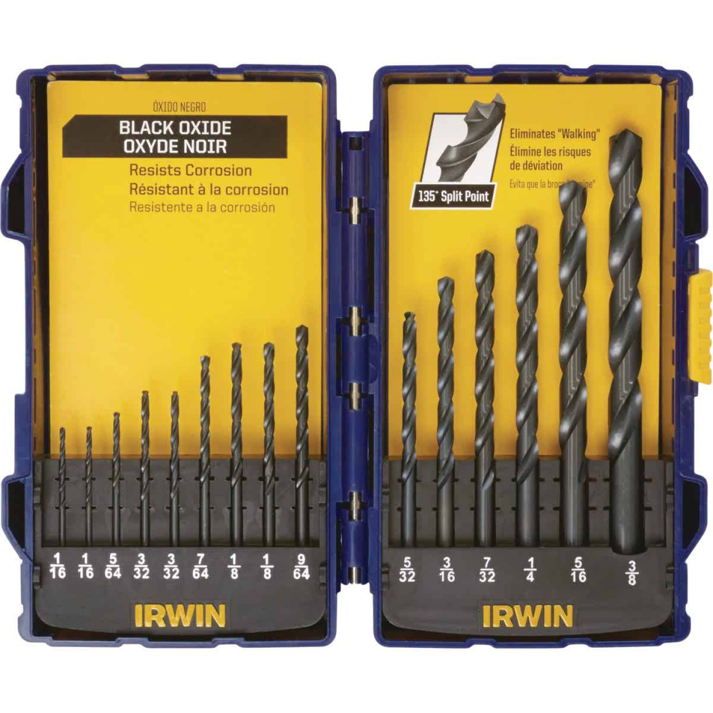 Irwin 15-Piece Black Oxide Drill Bit Set Image 1