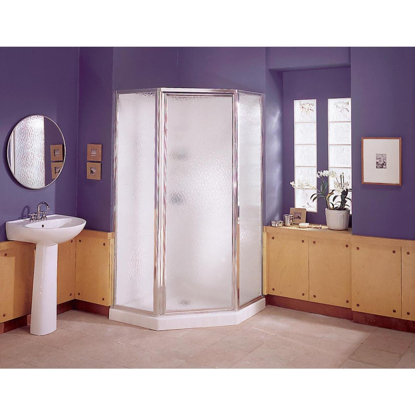 Sterling 38 In. W x 76 In. H White Polypropylene Shower Stall Image 1