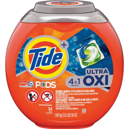 Tide Pods 56 Oz. 54 Loads 4-In-1 Ultra Oxy Laundry Detergent