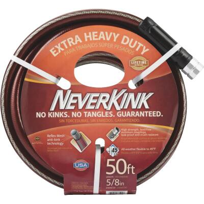 Neverkink 5/8 In. Dia. x 50 Ft. L. Extra Heavy-Duty Garden Hose