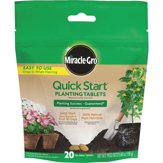 Miracle-Gro Quick Start Ready To Use Tablets Dry Plant Food (20-Pack)