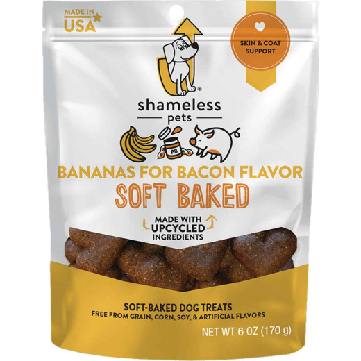 Shameless Pets Bananas For Bacon Soft Baked Dog Treat, 6 Oz.