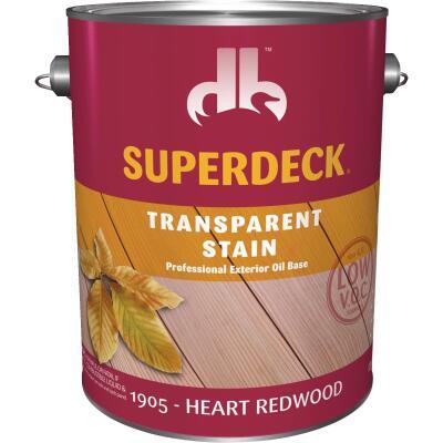 Duckback SUPERDECK VOC Transparent Exterior Stain, Heart Redwood, 1 Gal.