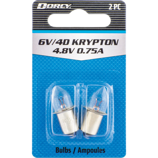 Dorcy Active Series Krypton 4.8V Flashlight Bulb (2-Pack)